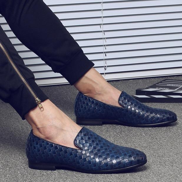 Blue Leather Loafer