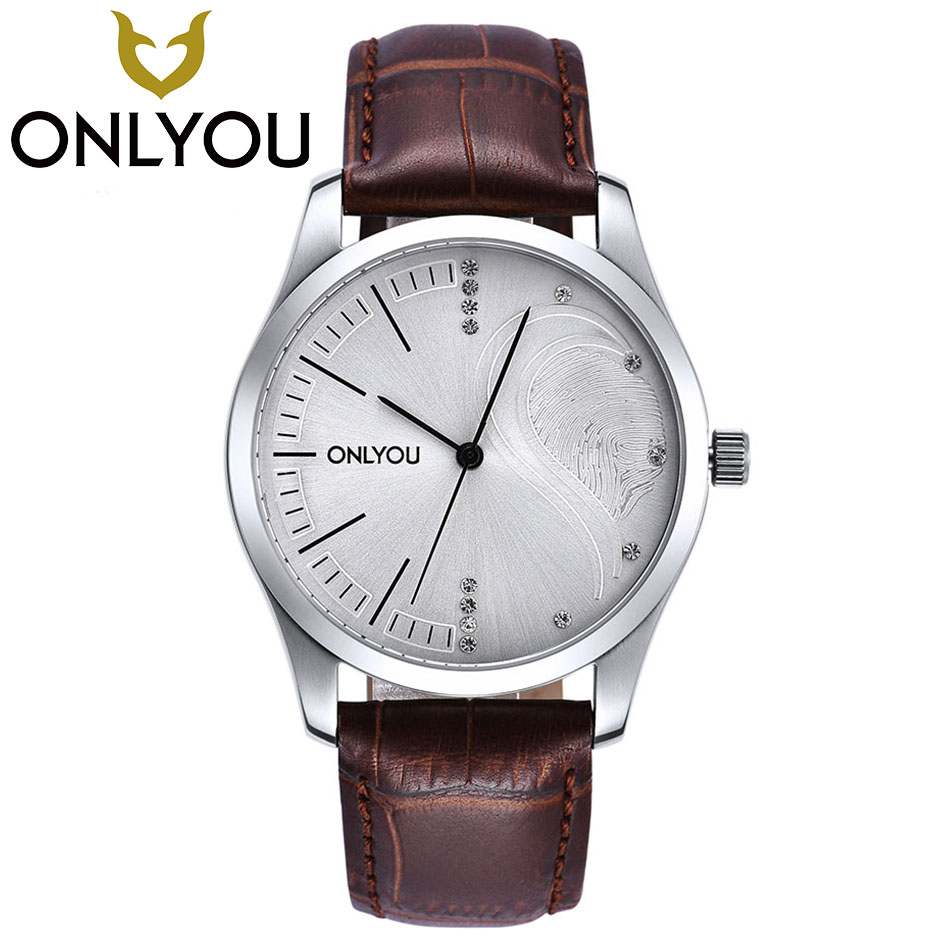 ONLYOU Lovers Simple Fashion Multiple Colour Watches Men Women Top Brand Luxury Ladies Clock Business Male Wrist Watch onlyou brand lovers watch women men quartz genuine leather wrist watches fashion business female male clock with calendar 81092