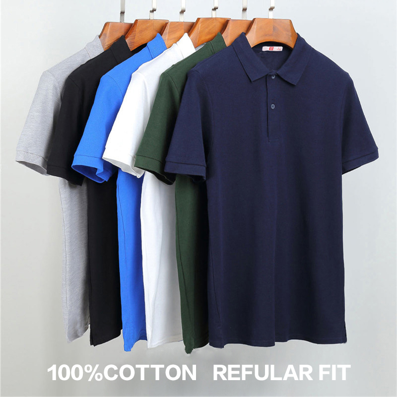 New 2019 Summer Teenagers   Polo   Shirts Solid Short Sleeves Regular Fit   POLO   Shirts Pack of 3 Adjustable Color Contact Asia Size