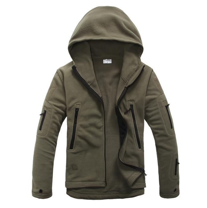 Winter Military Tactical Fleece outdoor Jacket Men Warm