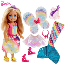 Original Barbie Chelsea doll dreamtopia Boneca princess Mermaid Doll Feature Rainbow Lights Girls Toys For Chilren Birthday Gift цены