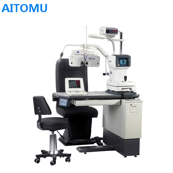 Unité de réfraction de chaise de Table de Microscope de lampe de fente