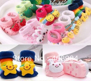 Baby Anti Slip Cotton Cute Shoes Animal Cartoon Slippers Boots Boy Girl Unisex Skid Rubber Sole Socks 0-18Month 50%
