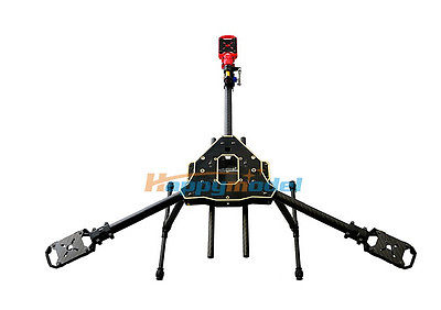 FPV HMF Y600 3-Axis Tricopter Aircraft Frame with Landing Gear & Gimbal Kits rtf full kit hmf y600 tricopter 3 axis copter hexacopter apm2 8 gps drone with motor esc at10 tx