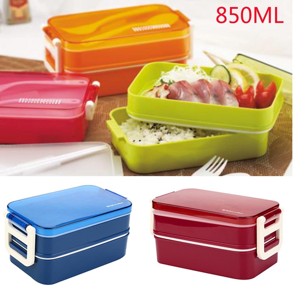 Saingace 2 Tier PP Cute Meal Box Tableware Microwave Oven New%3 hogar cocina 2017 kitchen utensils hot