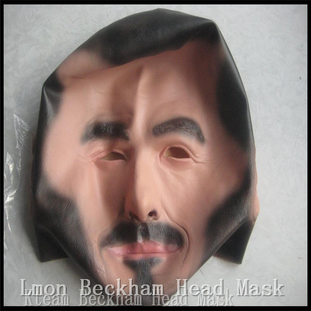 Hot!!!Halloween Party Cosplay Famous person Man David Beckham Face Mask Latex Party Real Human Face Mask Cool realistic mask Toy