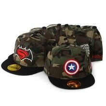 Kids Camouflage Baseball Caps Hip Hop Cap Children Boys Girls Flat Hats Snapback DS19 недорого