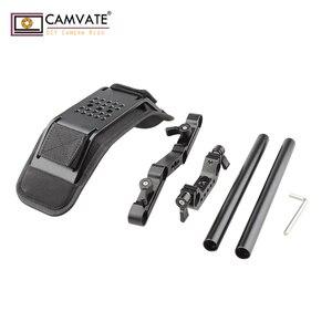 Image 4 - CAMVATE Camera Shoulder Mount Kit With Foam Shoulder Pad & Z Shaped Railblock Rail For DSLR Camera / DV Camcorder Support System