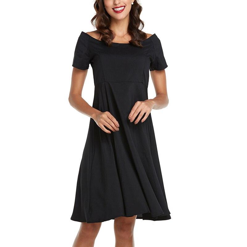 de558353ee Vintage Plaża Sukienka Midi Kobiety Off Shoulder Lato Boho Suknie ...