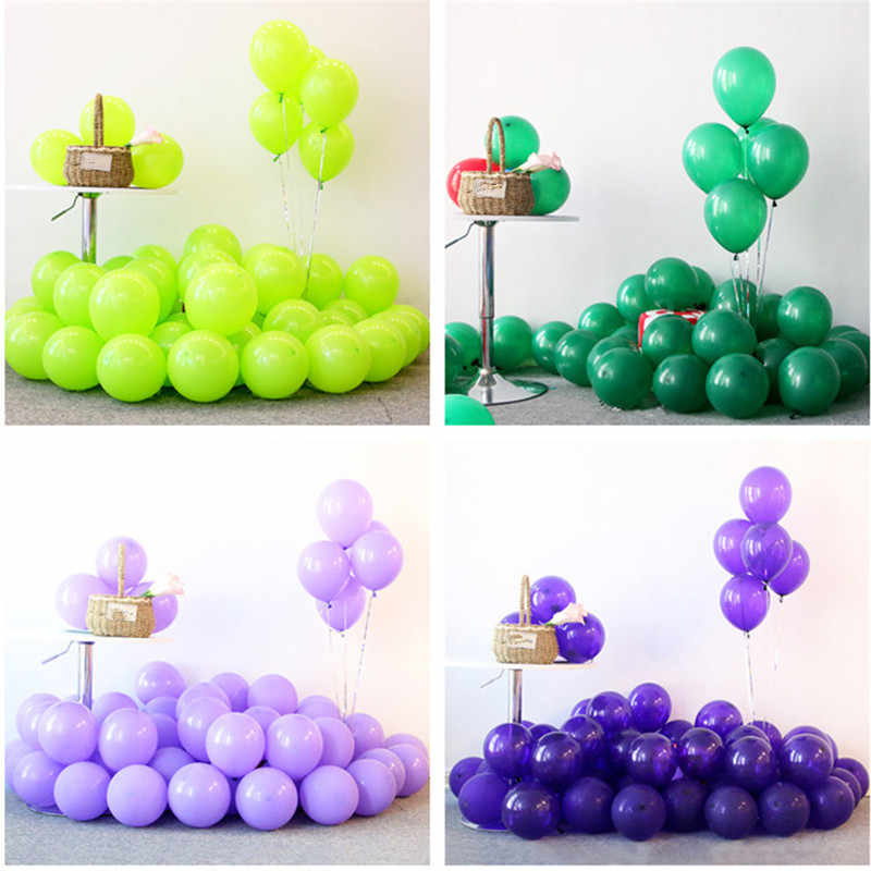 5pcs 12inch Purple Macaron Ballons Green Latex Helium Balloons Wedding Birthday Baby Shower Party Supplies Kids Air Balls Globos