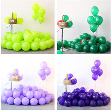5pcs 12inch Purple Macaron Ballons Green Latex Helium Balloons Wedding Birthday Baby Shower Party Supplies Kids Air Balls Globos(China)