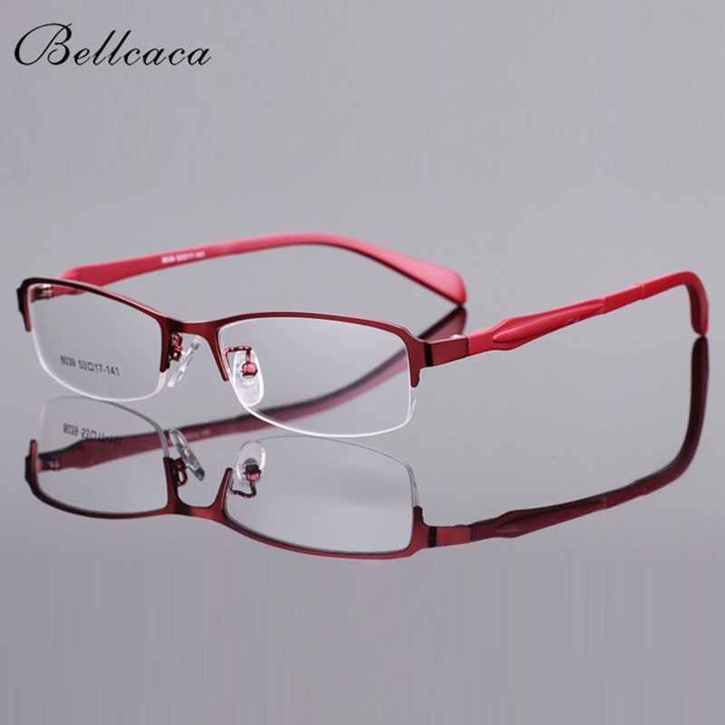 Bellcaca Spectacle Frame Women Eyeglasses Computer Optical Transparent Clear Lens Eye Glasses Frame For Female Eyewear BC8039