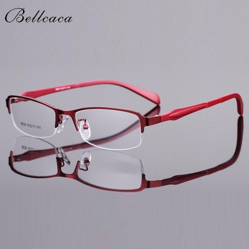 Armação de Óculos de Olho Quadro para Feminino Bellcaca Óculos Mulher Computador Óptico Transparente Lente Clara Bc8039