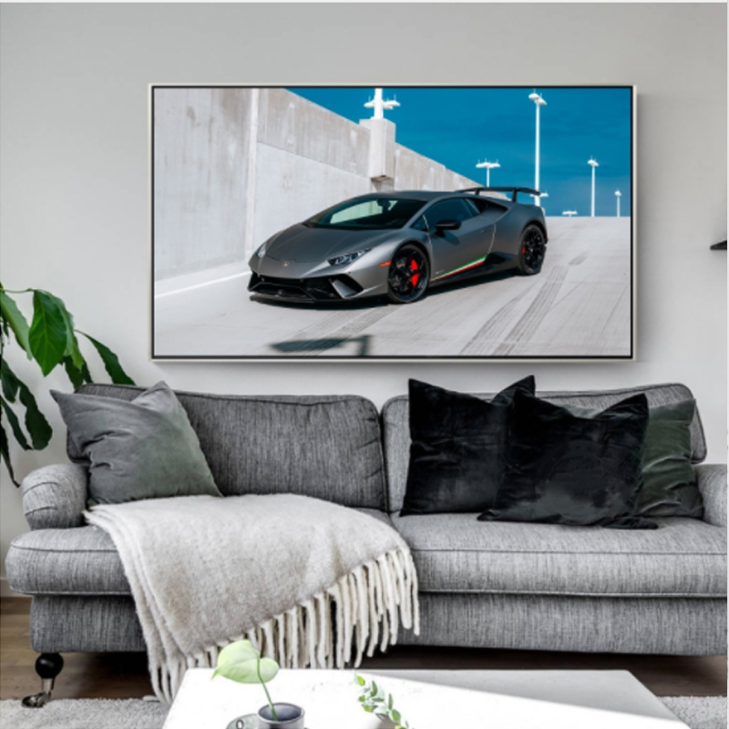 LZN Lamborghini Canvas Painting Car Picture Sports Car Art Poster Livingroom Wall Decoration New Calligraphy Painting Print