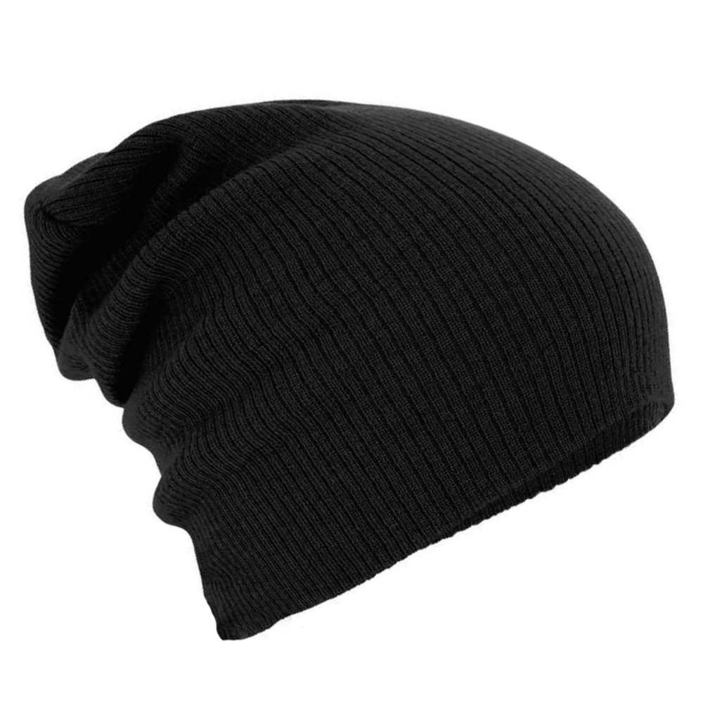 Warm Soft Winter Hats For Women Solid Hat Female Unisex Plain Gorros Hombre Skullies Beanie Knitted Kippah Cap