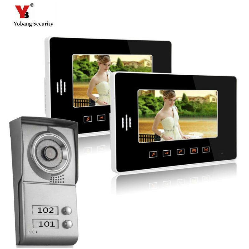 Yobang Security freeship Apartment Doorbell 10Night Vision Home Security Door Camera Video Door Phone For Villa Intercom