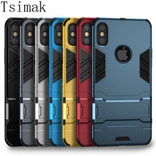 Shockproof Case For iPhone XS Max X XR 8 Plus 7 6s 6 5 5s SE Cover Case 3D Iron Man Finger Ring Armor Holder Phone Back Coque