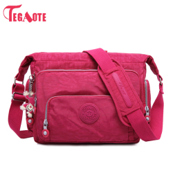 TEGAOTE Luxury Women Messenger Bag Nylon Kipled Shoulder Bag Ladies Bolsa Feminina Waterproof Travel Bag Women's Crossbody Bag