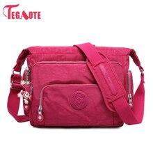 TEGAOTE sac à bandoulière de luxe pour femmes, sac en Nylon pour dames, sac de voyage imperméable pour dames