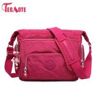 TEGAOTE Luxury Women Messenger Bag Nylon Kipled Shoulder Bag Ladies Bolsa Feminina Waterproof Travel Bag Women