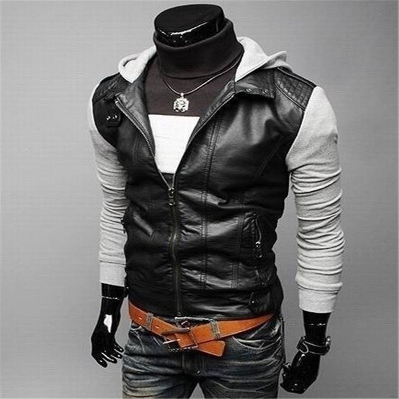 leather jacket short mens motorcycle slim winter suede genuine clothing pu jackets coats