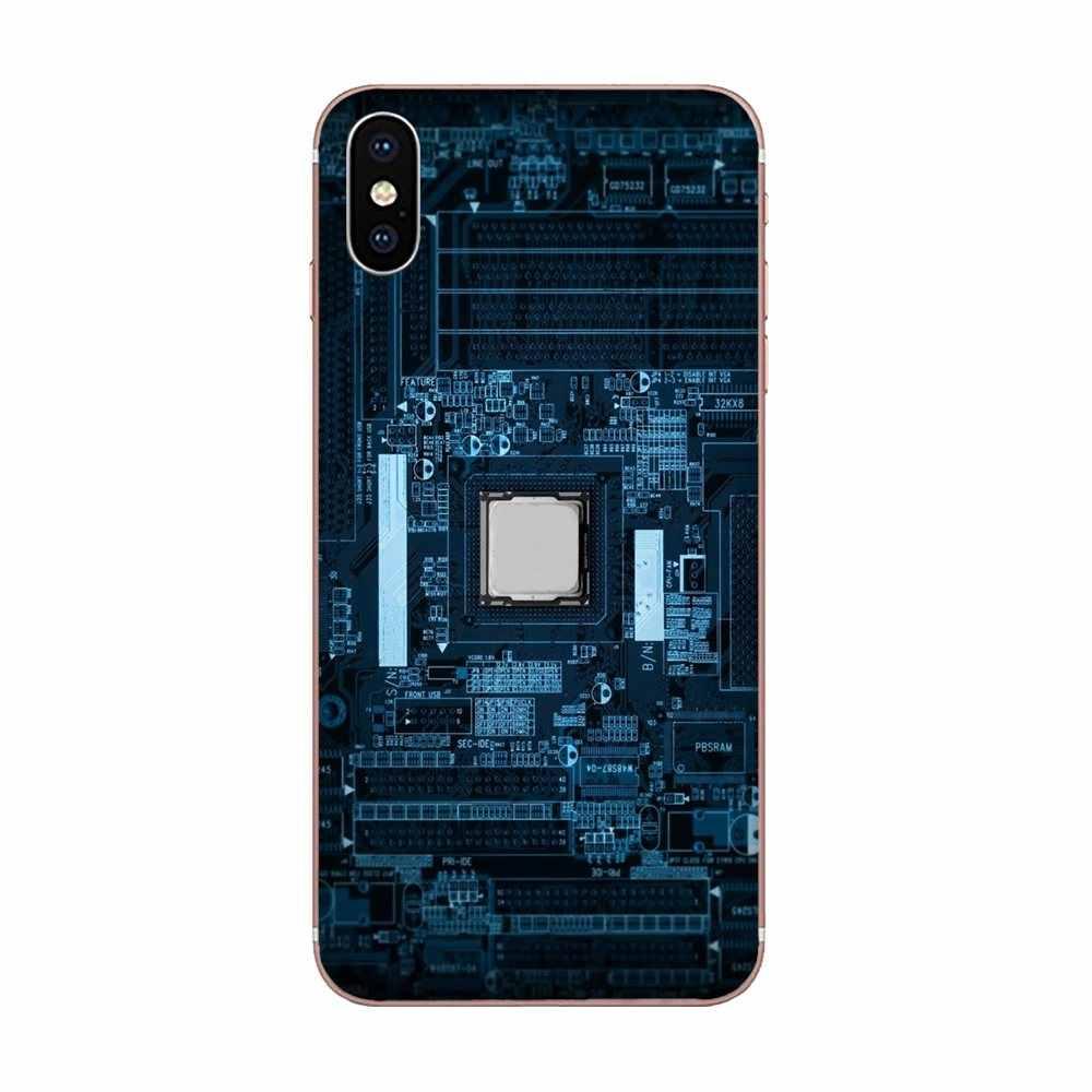 Casos de Telefone agradável Tecnologia Circuito Motherboard Para Huawei Honor 4C 5A 5C 5X6 6A 6X7 7A 7 7C X 8 8C 8S 9 10 10i 20 20i Lite Pro
