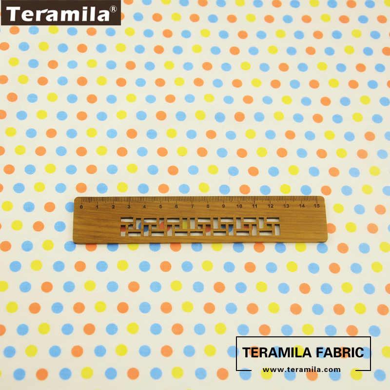 Teramila-tissu de coton imprimé coloré | Motifs de points, tissu de tissu, bricolage, courtepointe, oreiller, tissu pour bébé, décoration pour robe