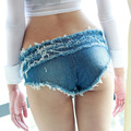 American Apparel Shorts Club Sexy Girls Low Waist Fringe Denim Shorts Summer Jean Shorts Mini Femme Women Ladies Summer 02220416