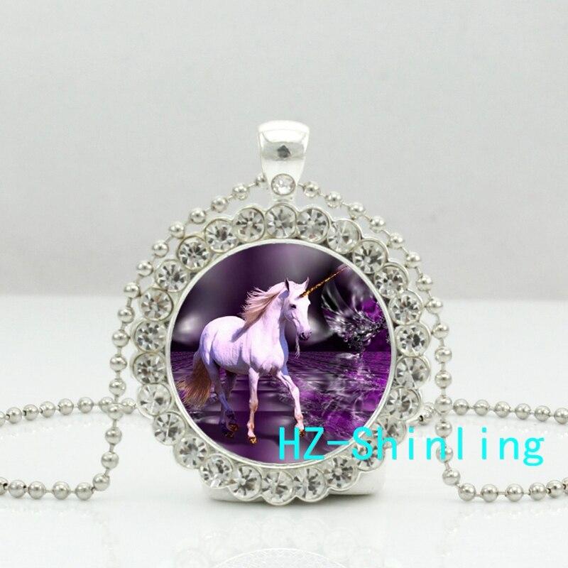 ツbaru Misterius Kalung Unicorn Unicorn Mimpi Kristal Liontin