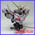 MODEL FANS INSTOCK YIHUI model assembly Gundam unicorn bust model 1:35 contain led light action figure toy