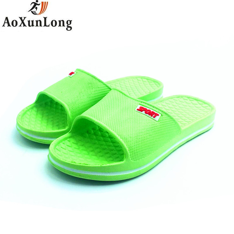 Women Flip Flop Beach Summer Flat Shoes Woman Plaid Home Slippers Indoor Bath Women Slip Slipper Green Size 35/39 Slide Slippers free shipping candy color women garden shoes breathable women beach shoes hsa21