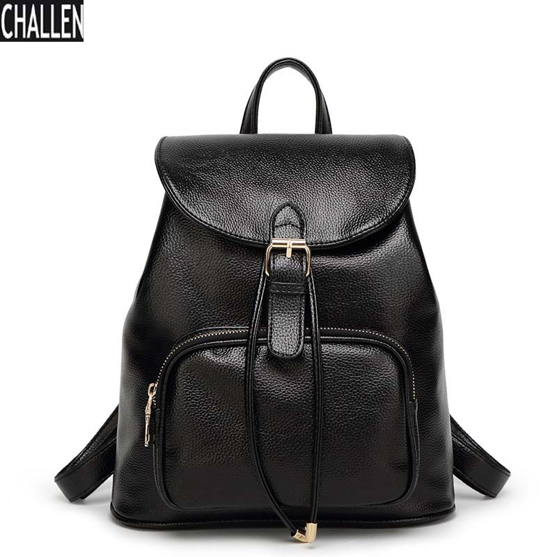 Women Leather Backpack Feminina HOT SALE High-end Large Capacity Mountaineering Student Top Fashion Backpack Free Shipping