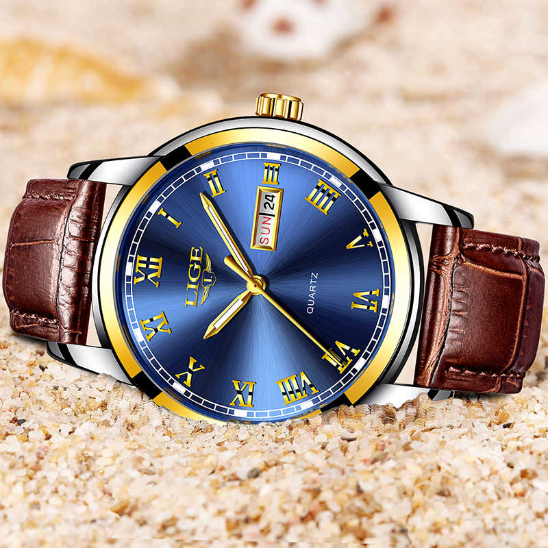 2020 nouvelle mode décontracté LIGE marque étanche Quartz montre hommes militaire en cuir sport montres homme horloge Relogio Masculino