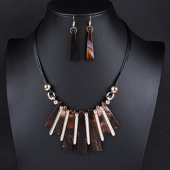 Luxury Choker Drop Tassel Statement Maxi Jewelry Set 4