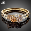 AZORA Brand Design Gold Plated Gold Colour Stellux Austrian Crystal Bangle Bracelet TB0007