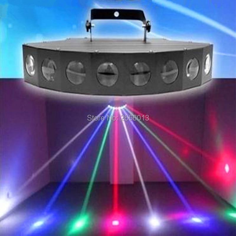 Niugul RGBW LED Eight-Beam Fan Beam Light,Colorful 8X10W LED Scan Stage Effect Lighting,LED DJ Scanning Beam Effect Disco Lights niugul dj stage effect light rgb laser light fan shaped 3 lens scanning lighting dmx512 scan laser beam disco party ktv lights