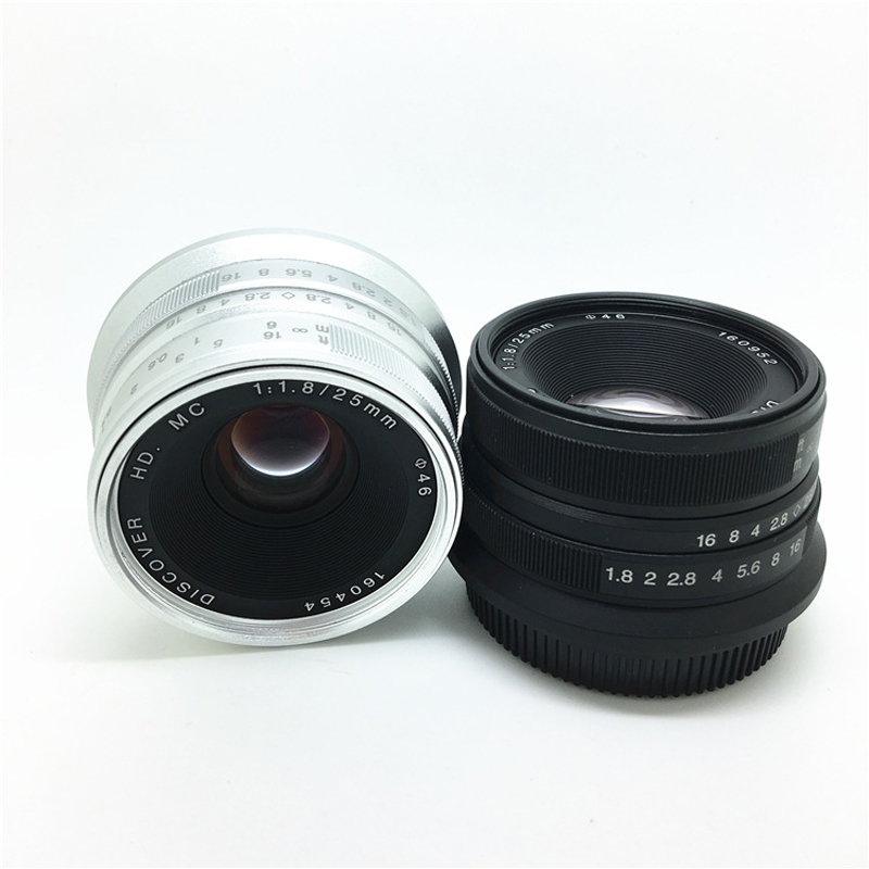 Black/Sliver 25mm F/1.8 HD MC Wide Angle Manual Focus Lens for Fujifilm FX Camera X-T10 X-T2 X-PRO2 X-PRO1 X-E2 X-E1 X-M1 X-A3 отсутствует покупаем от а до я 02 29 2010