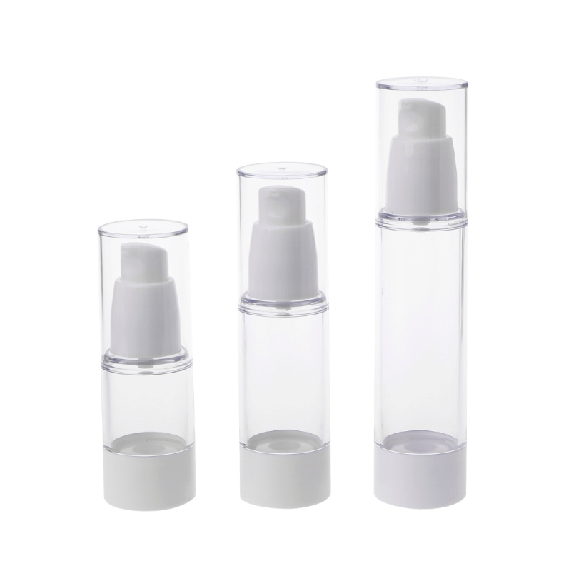 New! Epmty Vacuum Pump Toilet Vessel Cosmetic Bottle Mini Transparent Lotion Bottle 15ml 30ml 50ml
