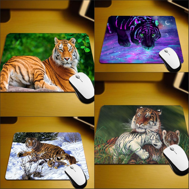 Enthusiastic Mairuige Creative Printed Mousepad Support Design Pattern Yourself Tiger Animals Cool Images Mice Mat Pad To Mouse Pc Game