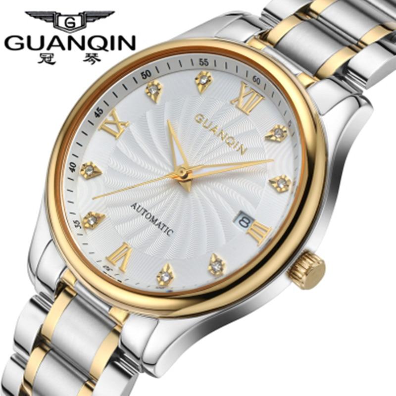 Original Brand GUANQIN Men Automatic Mechanical Watch Luxury Waterproof Men Watch Sapphire Wristwatches Relogio Masculino Reloj стоимость