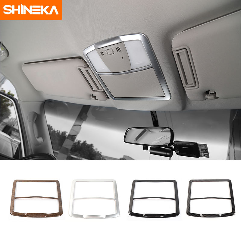 SHINEKA Car Styling Reading Light Lamp Cover Frame Stickers ABS for Nissan Patrol 2017 Interior Accessories