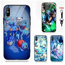 Shuriken de agua Greninja de silicona TPU de templado de vidrio de la pintura para Apple iPhone X XS X Max XR 5 5C 5S iPhone 6 6 S 7 8 Plus(China)