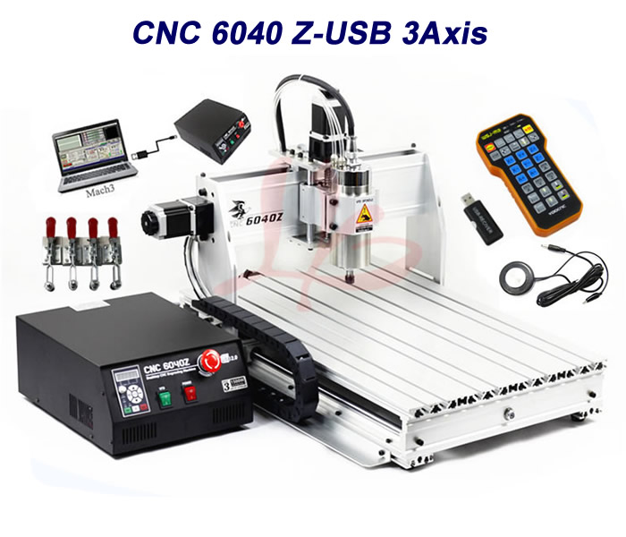 Free tax to EU 6040Z-USB 3 axis 1.5KW mini CNC router with mach3 remote control mini lathe machine free tax to eu high quality cnc router frame 3020t with trapezoidal screw for cnc engraver machine