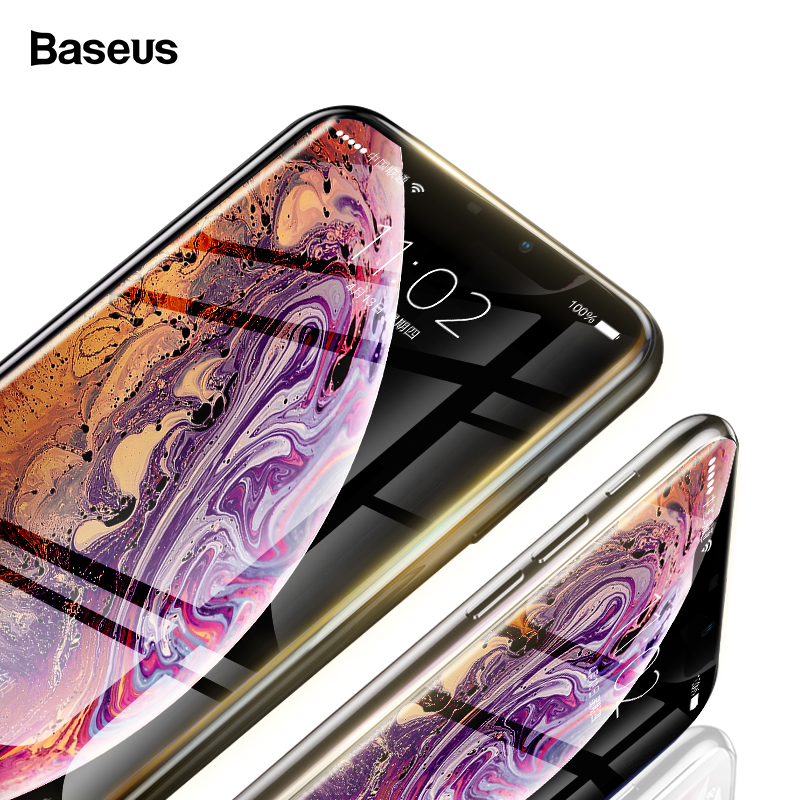 Baseus 0.23mm Screen Protector For iPhone XS Max XR X Tempered Glass Full Cover Protection Protective Film For iPhone 11 Pro Max