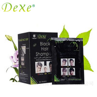 DEXE For Men And Women Black Hair Color Fast Black Shampoo Hair Care 10pcs Lot