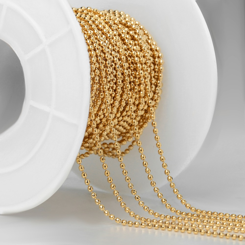 10 Yards Stainless Steel Ball Bead Chains for DIY Bracelet Necklace Jewelry