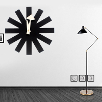 111 hot sales designers digital wall clocks sticker Black clock Asterisk Clock modern design Designer wall clock kitchen