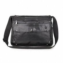 Genuine Leather Vintage Men Messenger bags Business Men's travel bag man leather crossbody shoulder bag Handbags 2016 LI-1272
