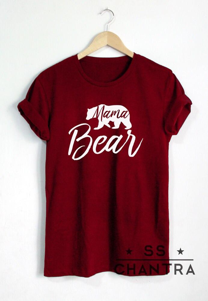 MAMA BEAR SHIRT MAMA Fashion Hipster Unisex T-Shirt Weitere Größen - Damenbekleidung - Foto 5