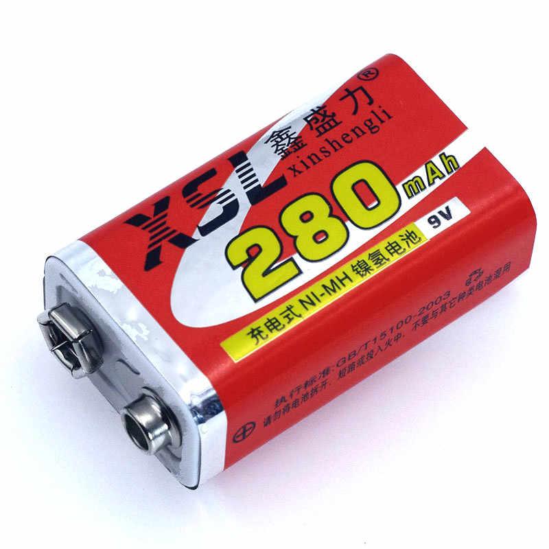 1 ピース XSL 新 9 ボルト 6F22 280 mah ニッケル水素充電式バッテリーマルチメータワイヤレスマイクメーターのおもちゃリモートコントロール使用